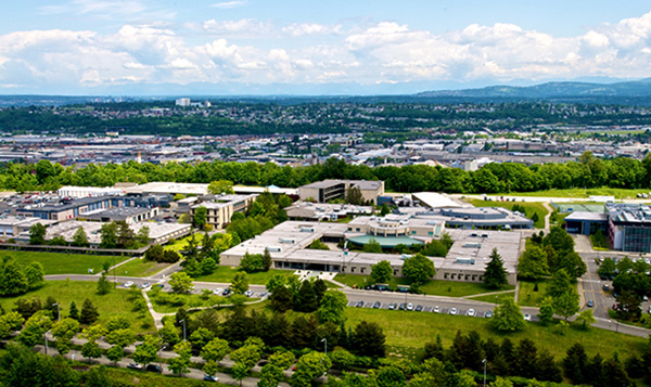 Overhead shot of South Seattle College campus