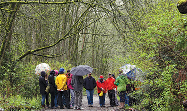West Duwamish Greenbelt South Seattle College students in greenspace