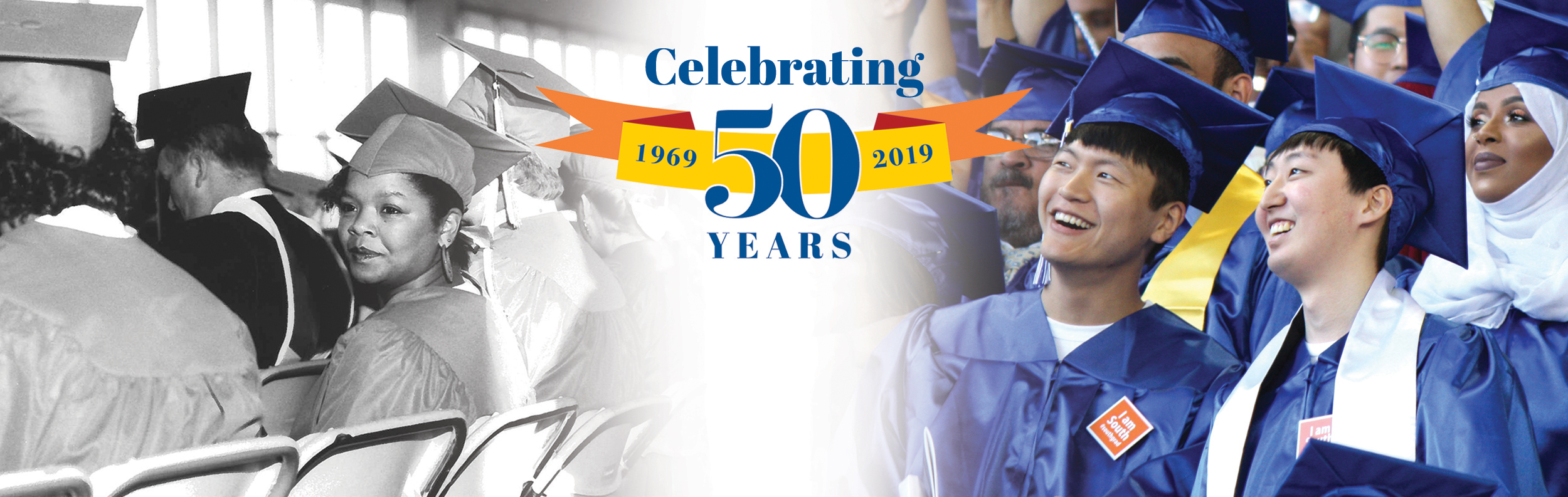 50th Anniversary logo with graduates from 1969 and 2019