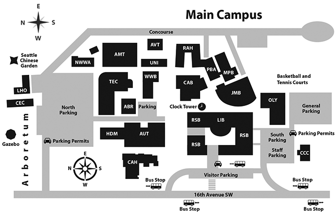 South Seattle College >> Campus Map South Seattle College